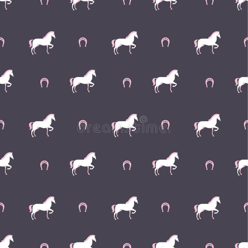 Teste padrão do cavalo ilustração royalty free