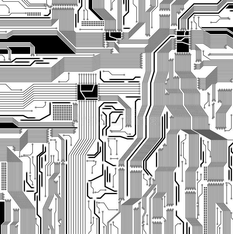 Teste padrão do circuito ilustração royalty free