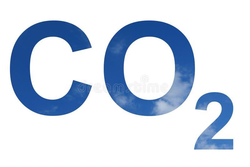 Teste padrão do CO2 ilustração do vetor