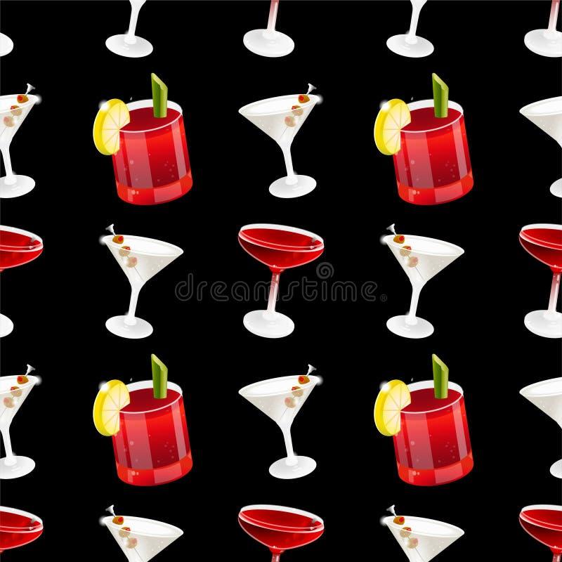 Teste padrão do cocktail ilustração do vetor