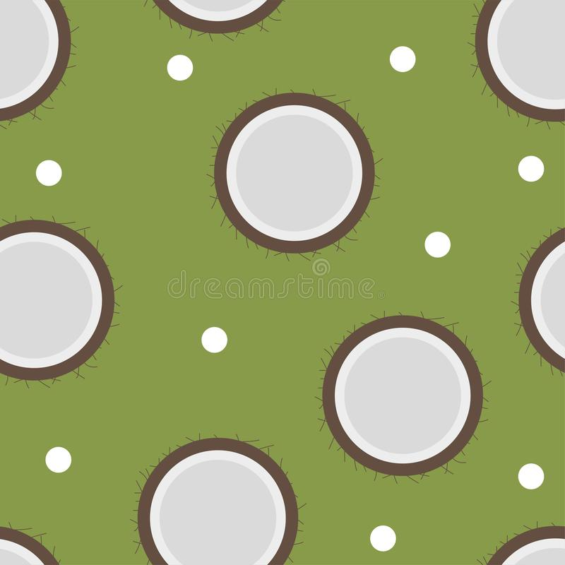 Teste padrão do coco sem emenda no estilo liso para algum projeto ilustração do vetor