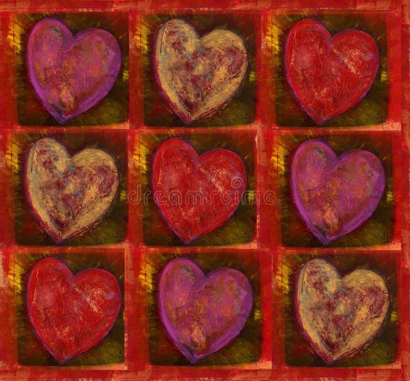 Download Teste padrão do coração ilustração stock. Ilustração de muitos - 350721