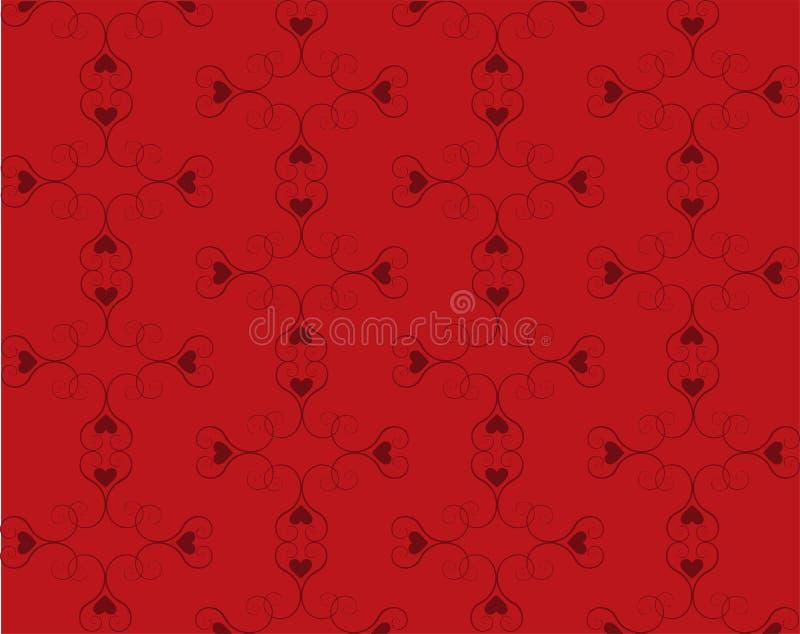 Teste padrão do coração do redemoinho ilustração royalty free