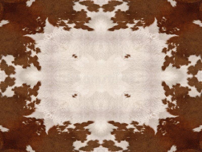 Teste padrão do couro cru da vaca do caleidoscópio imagens de stock royalty free