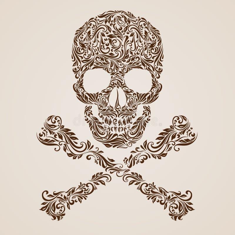 Teste padrão do crânio ilustração royalty free