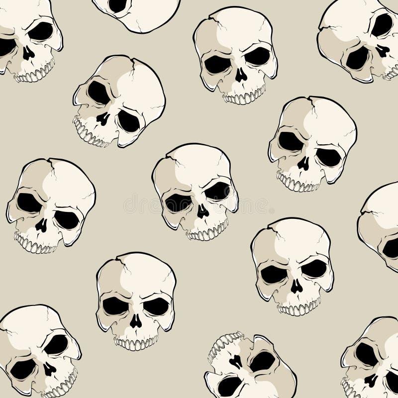 Teste padrão do crânio ilustração stock