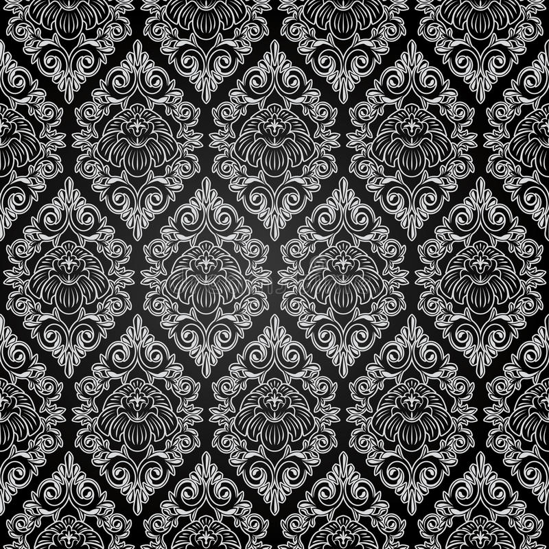 Teste padrão do damasco ilustração royalty free