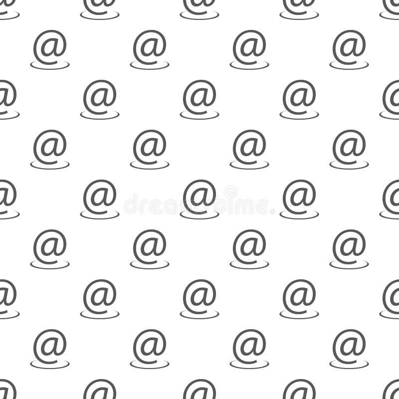 Teste padrão do endereço email sem emenda ilustração royalty free