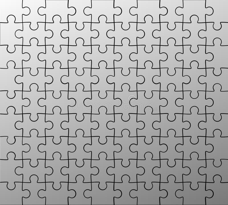 Teste padrão do enigma de serra de vaivém ilustração royalty free