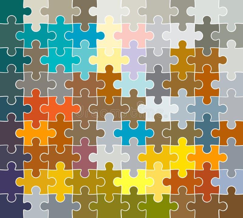 Teste padrão do enigma de serra de vaivém ilustração do vetor