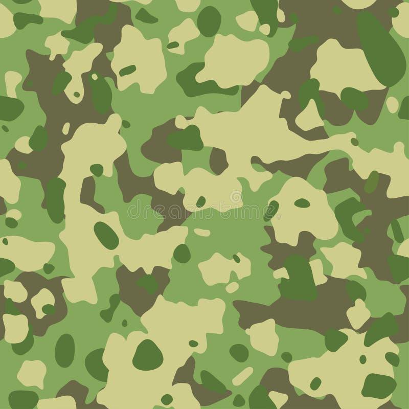 Teste padrão do exército da camuflagem Textura militar sem emenda Verde, marrom ilustração do vetor