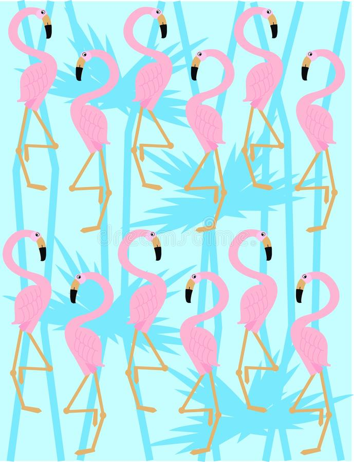 teste padrão do flamingo ilustração stock