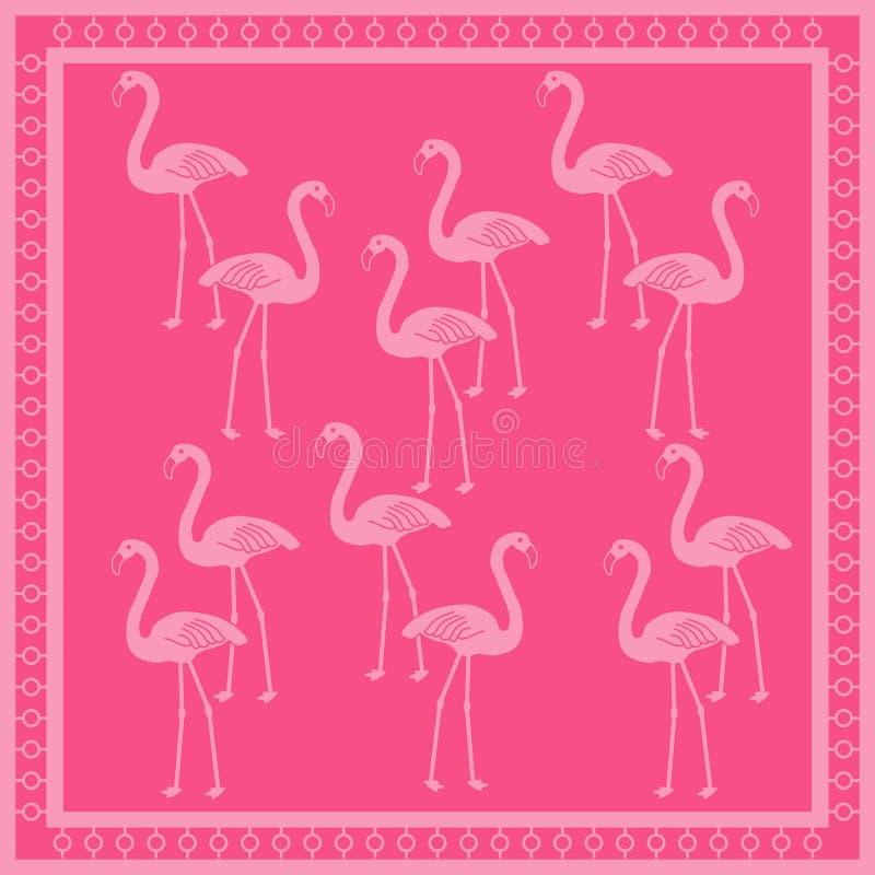 Teste padrão do flamingo ilustração do vetor