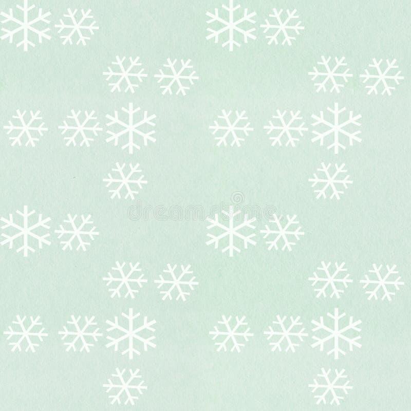 Teste padrão do floco de neve imagem de stock
