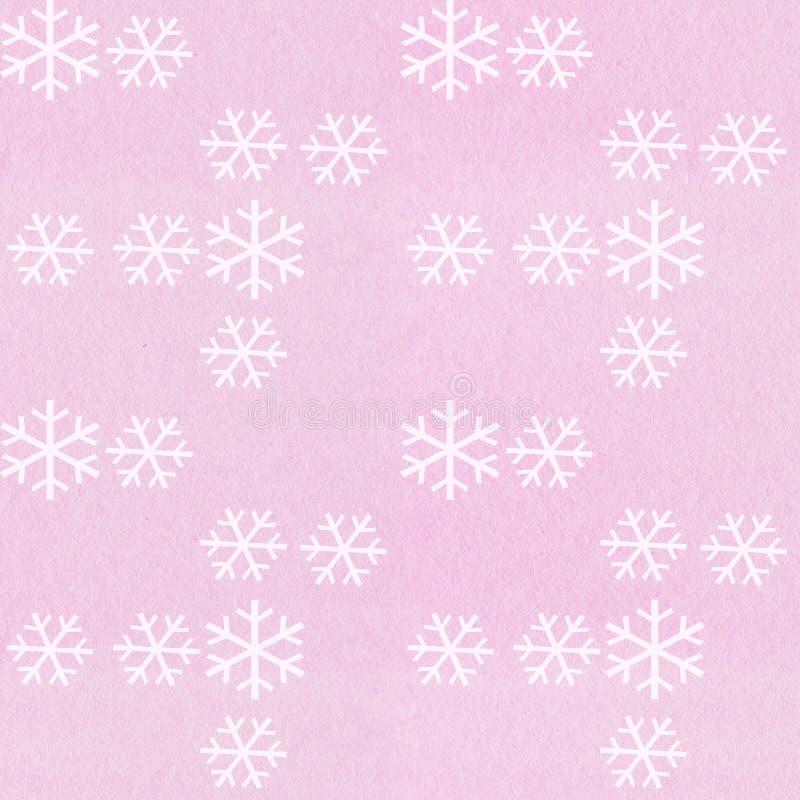 Teste padrão do floco de neve fotografia de stock royalty free