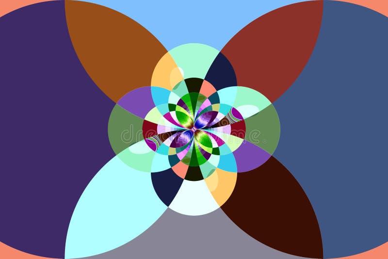 Teste padrão do Fractal: círculos e ovals ilustração do vetor
