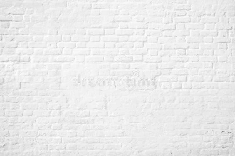 Teste padrão do fundo branco da parede de tijolo ilustração do vetor