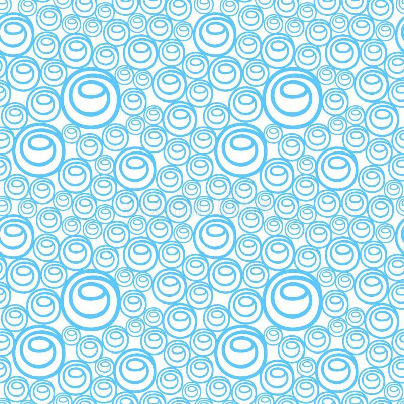 Teste padrão do fundo com bolhas azuis ilustração do vetor
