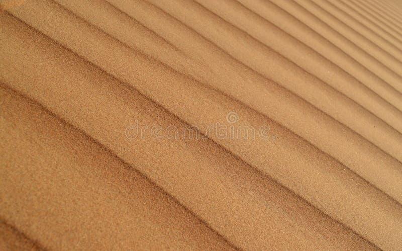 Teste padrão do fundo da duna de areia do deserto fotografia de stock