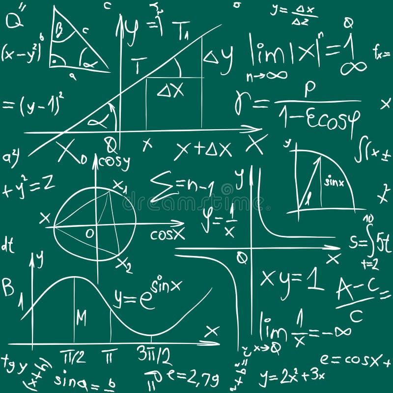 Teste padrão do fundo da matemática ilustração do vetor