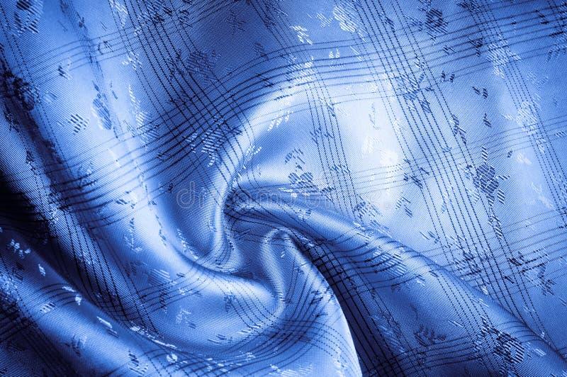 Teste padrão do fundo da textura Azul da tela de seda backg azul elegante ilustração stock