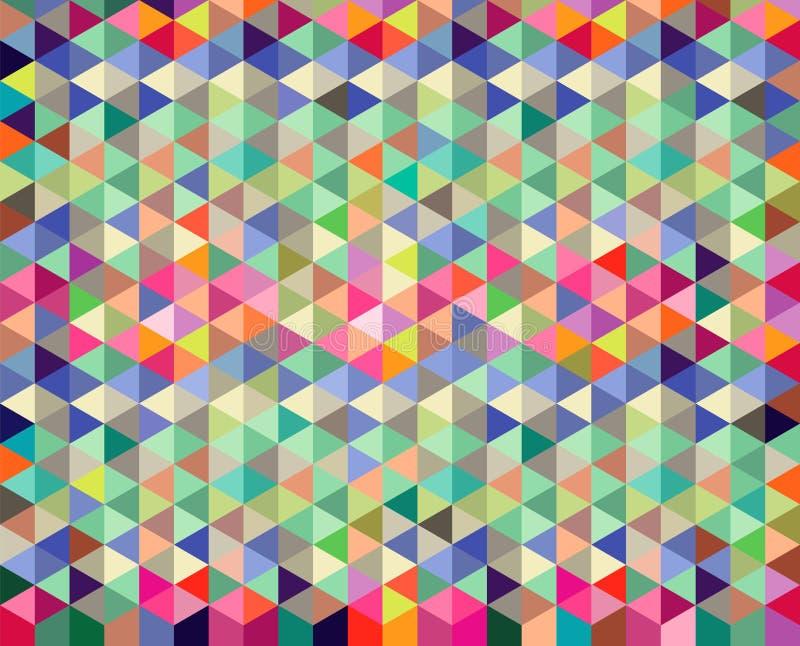 Teste padrão do fundo do diamante e do triângulo ilustração stock
