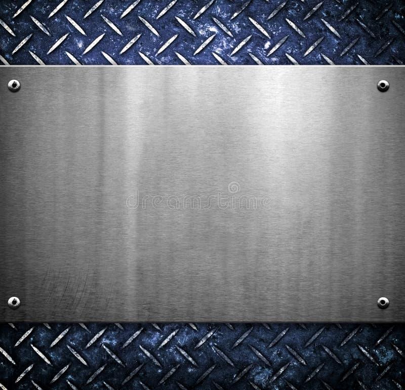 Teste padrão do fundo do metal imagens de stock royalty free