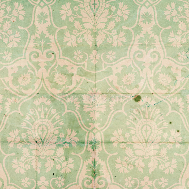 Teste padrão do fundo do Scrapbook do damasco do vintage imagens de stock