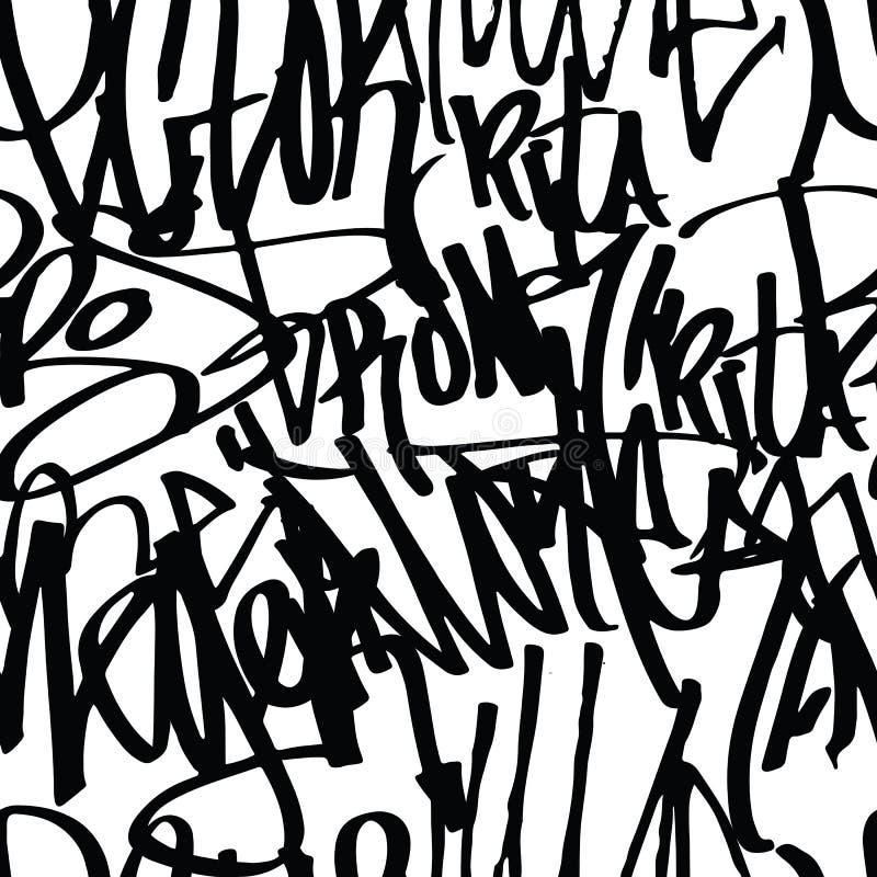 Teste padrão do fundo dos grafittis ilustração stock