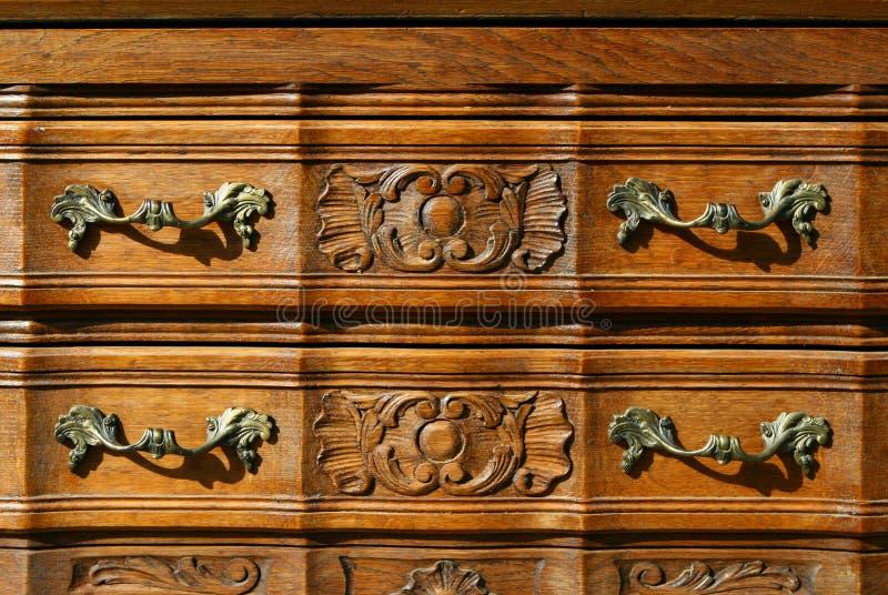 Teste padrão do fundo floral do woodcarving fotos de stock royalty free