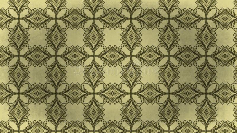 Teste padrão do fundo do vintage ilustração royalty free
