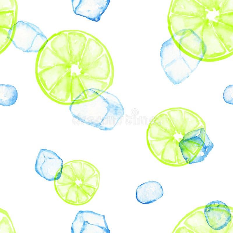 Teste padrão do gelo do citrino isolado ilustração royalty free