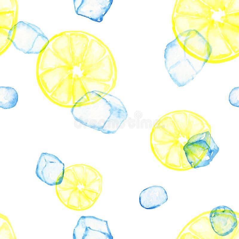 Teste padrão do gelo do citrino isolado ilustração stock