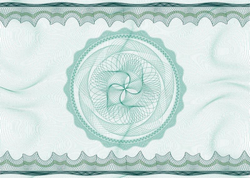Teste padrão do Guilloche com rosette ilustração do vetor