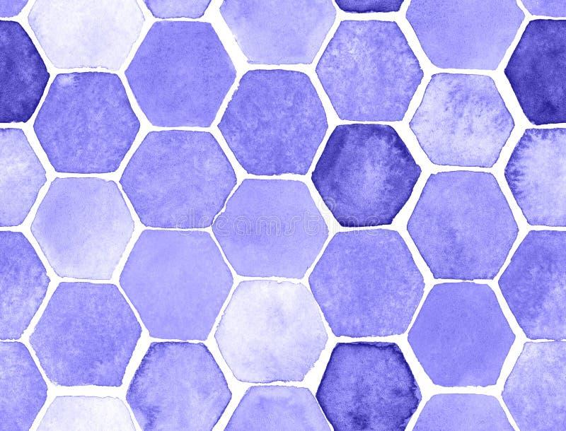 Teste padrão do hexágono ilustração do vetor