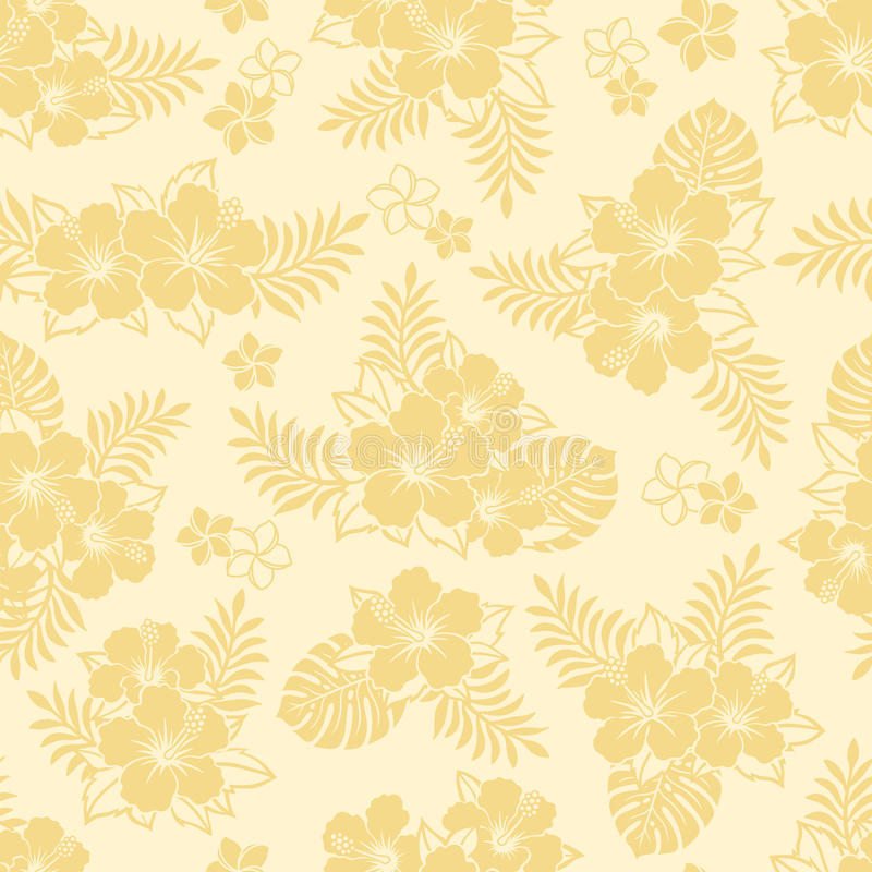 Teste padrão do hibiscus ilustração stock