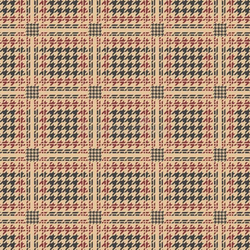 Teste padrão do houndstooth da manta do vale ilustração do vetor