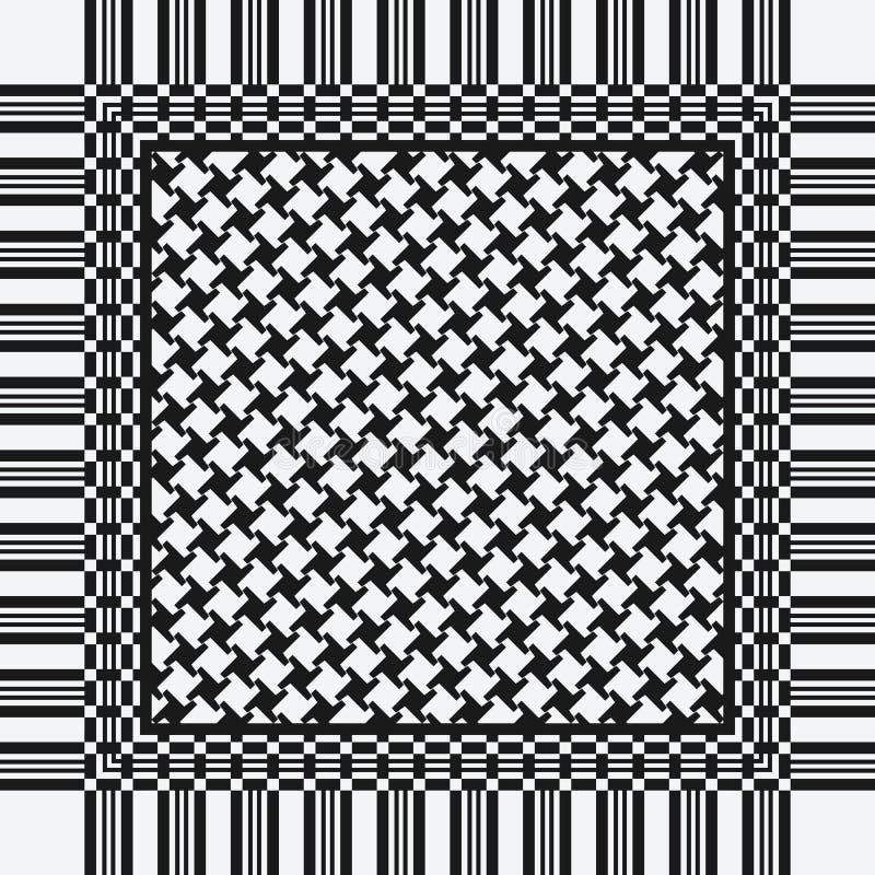 Teste padrão do keffiyeh do lenço ilustração stock