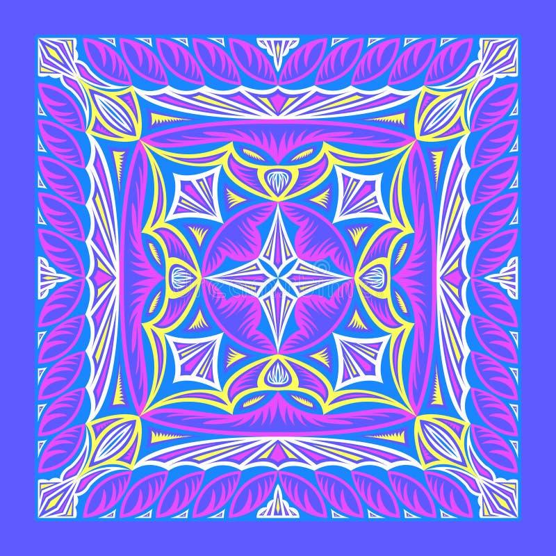 Teste padrão do lenço ilustração do vetor