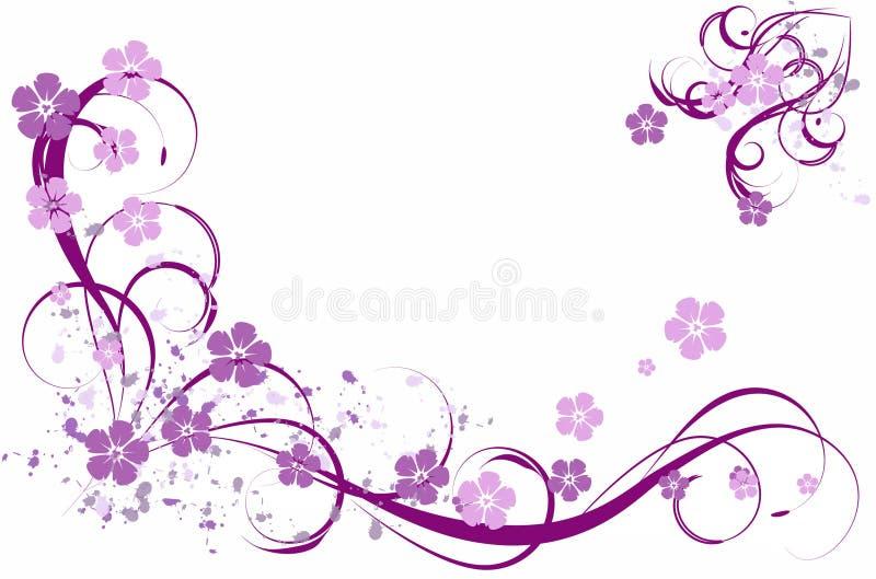Teste padrão do Lilac ilustração do vetor