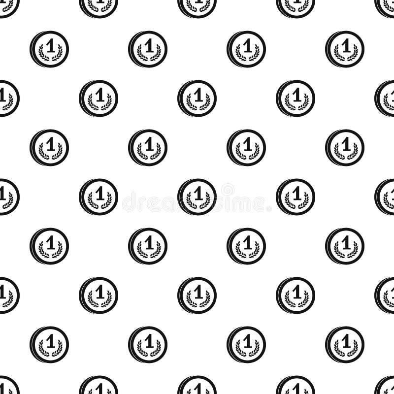 Teste padrão do lugar da medalha primeiro, estilo simples ilustração do vetor