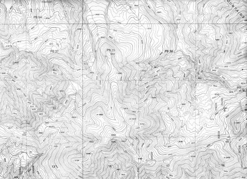 Teste padrão do mapa topográfico imagens de stock
