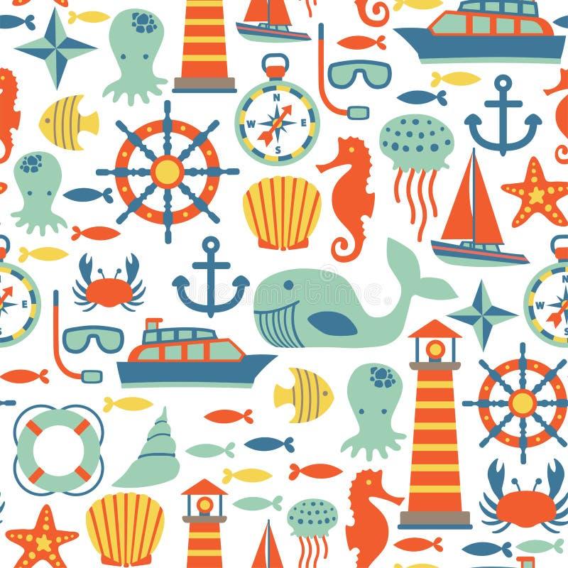 Teste padrão do mar ilustração do vetor