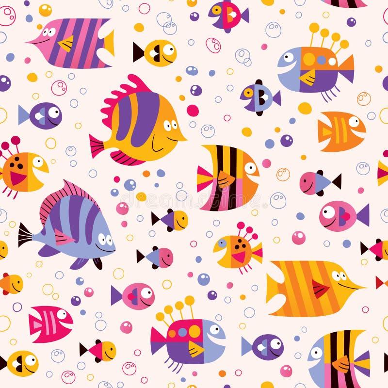 Teste padrão do mar dos peixes ilustração royalty free