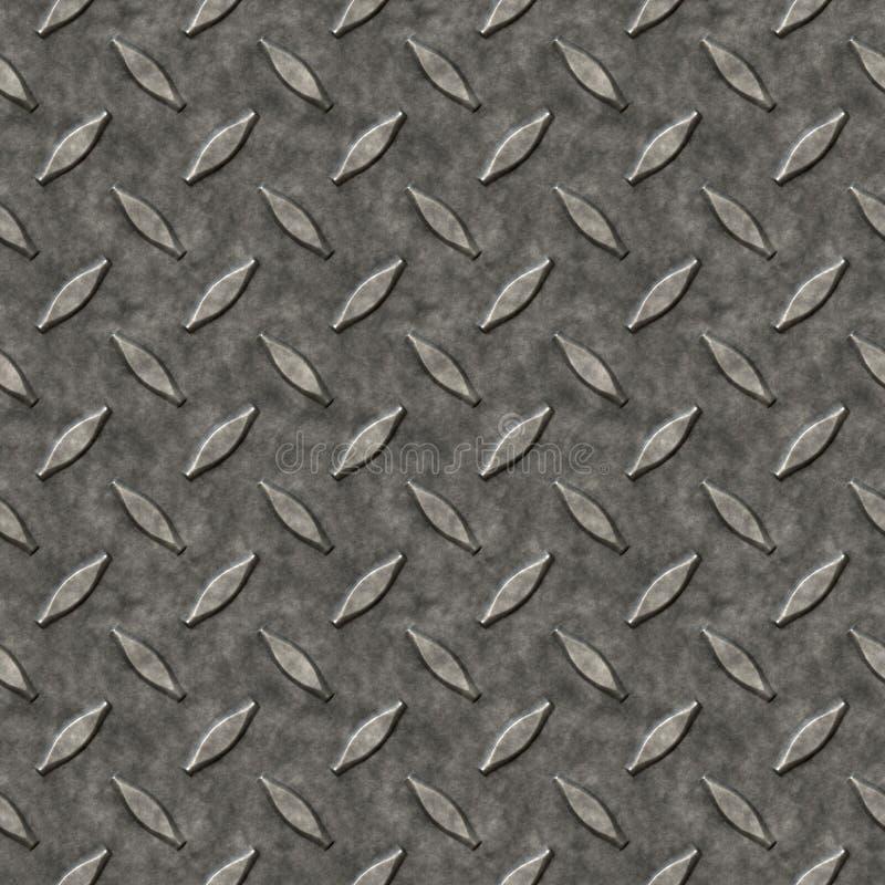 Teste padrão do metal da placa do diamante ilustração do vetor
