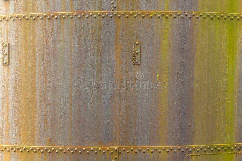 Teste padrão do metal oxidado de um velho imagem de stock