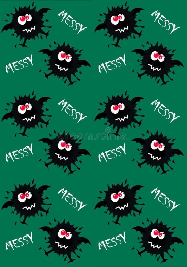 teste padrão do monstro sem emenda ilustração royalty free