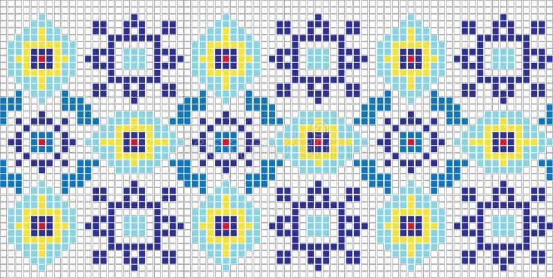 Teste padrão do mosaico ilustração royalty free