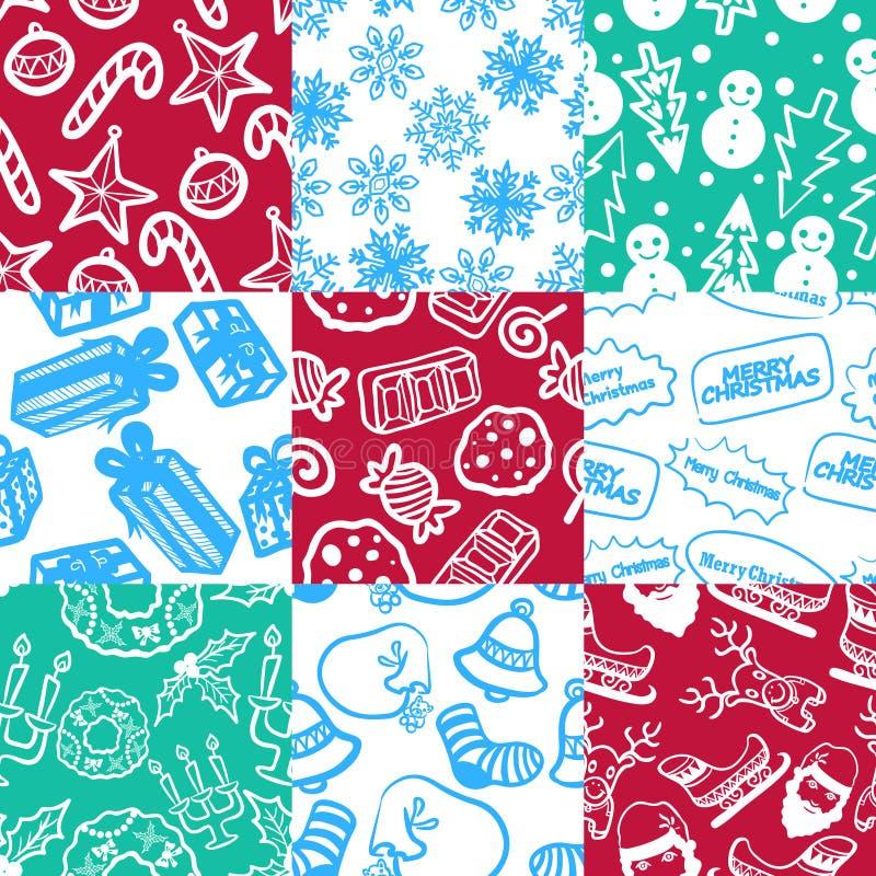 Teste padrão 1 do Natal ilustração stock