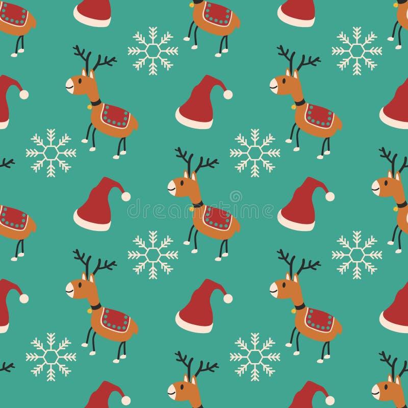 Teste padrão do Natal ilustração do vetor